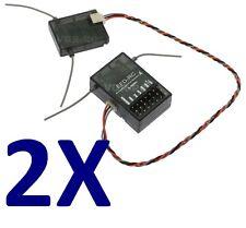 2x DSMX Receiver + Satellite Full Range for Spektrum DX6,DX7s,dx8usw G-144 M2