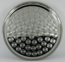 """6 x 14"""" Round Stainless Steel Bar Pub Tray Restaurant Catering"""