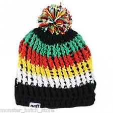 BRAND NEW WITH TAGS UNISEX Neff WOMP Beanie BLACK/YELLOW/GREEN LIMITED EDITION