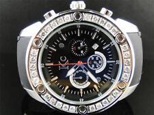 Mens Techno Com KC Joe Rodeo Master Genuine WG Clear WWBL Diamond Watch 2.85 Ct