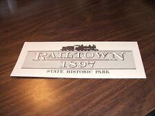 JUNE 1983 RAILTOWN SIERRA RAILROAD COMPANY BROCHURE