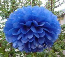 6x navy blue tissue paper pom poms wedding birthday party baby shower decoration