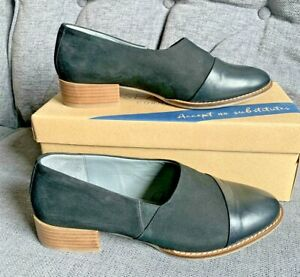 Seasalt Ladies Shoes 7.5 41 Wide Fit Bright Bay Leather Suede Flat Smart Casual