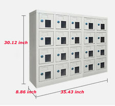 Intbuying 20 Door Compartment Key Lock Office Gym Storage School Locker Cabinets
