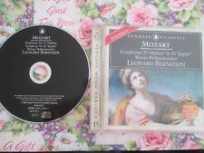 Mozart, Wiener Philharmoniker, Leonard Bernstein Symphonies 35 & 41 CD Album