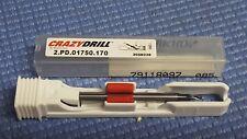MIKRON CRAZYDRILL Pilot Carbide Drill PD.01750.170 2FL  CARBIDE CROSSPILOT