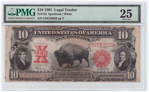 $10 1901 Legal Tender FR# 122 PMG VF 25