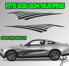 2010-2014 Ford Mustang Side Swoosh Stripe Vinyl Decal Sticker GT 5.0 Graphic