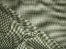 Vintage 1940's 50's Green Check Cotton Dress Fabric