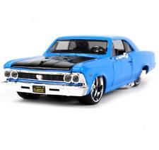 Maisto 1:24 1966 Chevrolet Chevelle SS 396 Metal Model Car New in Box Blue