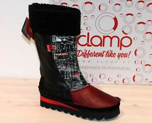 CLAMP Leder Designer Boots Stiefel -Made in Portugal- CUTLER Print - Neu! Gr. 39