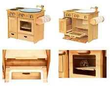 2042 Kinderküche / Spielküche aus Holz mit Handtuchhalter combo mit Handtüchern