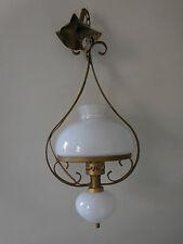 plafonnier lustre verre opalin art-déco art nouveau CURIOSITY by PN