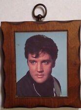 Elvis Presley, picture on wood, mid century, Vintage, framed wall hanging