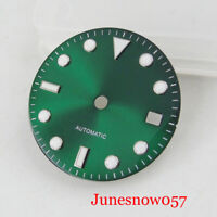 28.5mm Green Watch Dial with Date Window Fit MINGZHU 2813 MIYOTA 8215 Movement