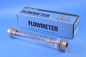 Blue-White F-41000LN-12 F-410 Series Flowmeter, 2 to 20GPM