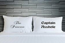 Couples Funny Pillowcases Princess Captain Novelty Covers Bedroom Bedding WSD786