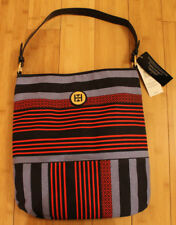 ** TOMMY HILFIGER Canvas Multi-Co Striped Shopper Tote Bag Msrp $54.99 ** NWT **