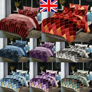 Duvet Quilt Cover Set Cotton Covers Bedding Sets Double King Super King Size UK