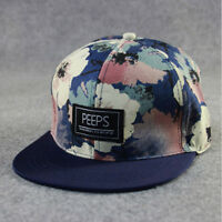 New Trendy Women Men Snapback Adjustable Baseball Cap Hip Hop Cool Floral Print