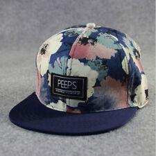 Men Women Fashion Snapback Adjustable Baseball Cap Hip Hop hat Cool Floral Print