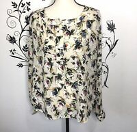 PJK Patterson J kincaid Floral Abstract Blouse Womens Small