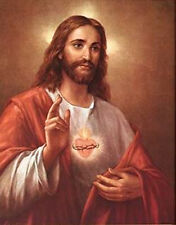 "ON SALE Sacred Heart of Jesus 5"" x 7"" Christian Photo Print Heaven CATHOLIC ART"