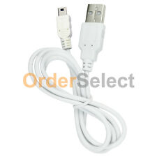 White USB Battery Charger Sync Data Cord Cable for Canon Powershot Cameras US