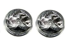 2 x 3g pots of nail art foil leaf flakes fine Silver  pot  for nails decoration