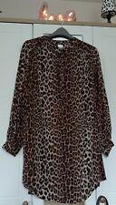 Ladies H&M Leopard Print Shirt Dress Tunic Size XL