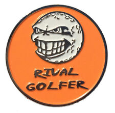 'Electric' ORANGE Golf Ball Marker