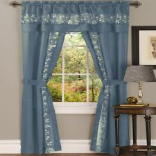 Achim Importing Co Fairfield Window in a Bag Set Ff5p Size 63 H X 55 W Color Ice Blue