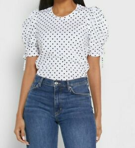 BANANA REPUBLIC Cut Out Puff Sleeve T-Shirts #55154-7