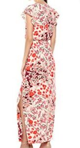 Adrianna Papell Geranium Multi Coloured Maxi Dress Size 12 RRP £135