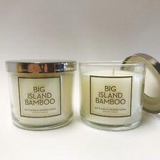 2 Bath & Body Works Home Big Island Bamboo Medium Scented Candle 4 oz New