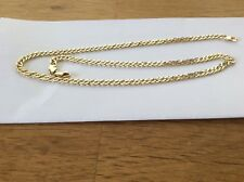 """9ct Gold 19"""" double curb link chain"""