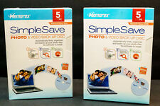 (2) MEMOREX SIMPLESAVE PHOTO & VIDEO BACK-UP DISC 5-PACKS