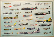 (PRL) 1987 AEREI II GUERRA MONDIALE AVIONS PLANES WWII AFFICHE ART PRINT POSTER