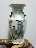 Chinese  Porcelain Famille Rose Double Ear Vase