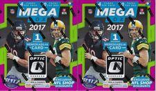 (2) 2017 Panini Donruss OPTIC Football NFL Trading Cards 40ct Ret MEGA Box LOT