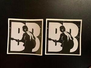 "Lot of 2 B.B. KING 2 1/2"" x 2 1/2""  Band Logo Stickers Black White FAST! FREE!"