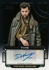 Star Wars Galactic Files 2018, Daniel Mays 'Tivik' Auto Card #155/415