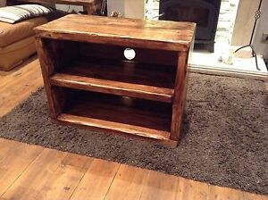 Midi-Rennes TV/media stand hand crafted from reclaimed timber