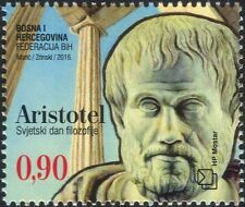 Bosnie-Herzégovine 2016 Aristote/Gens/PHILOSOPHIE/philosophe 1 V (b2756c)