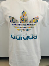 ADIDAS BEACH PLEASE WHITE GRAPHIC TEE T SHIRT MENS SIZE LARGE NWT