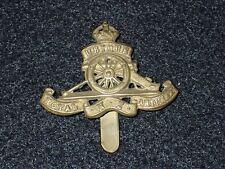 WWII Great Britain British Cap Hat Badge Device Royal Artillery NZ Original Nice