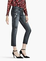Lucky Brand Women's Jeans Sienna Slim Boyfriend Charcoal Gray Embroidered 8 / 29
