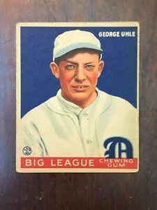 1933 Goudey  #100 George Uhle