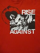 M red RISE AGAINST BAND t-shirt by GILDAN