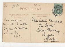 Miss Adele Marshall The Crofts Abbots Bromley Rugeley Staffs 1903  311a